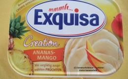 Exquisa Creation Ananas-Mango – Fruchtig süßes Frischkäsewölkchen